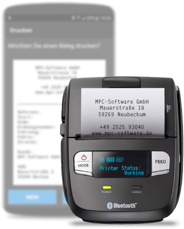 Bluetooth Belegdrucker mit TARIS Driver